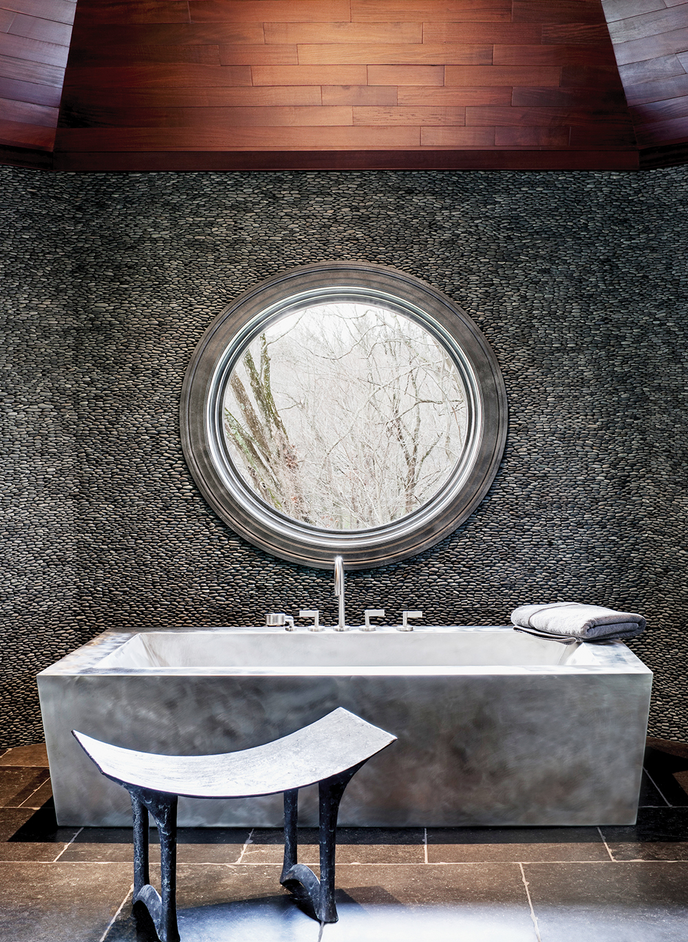 Fully Skirted Stainless Steel Soaking Bath with Contoured Bottom 42